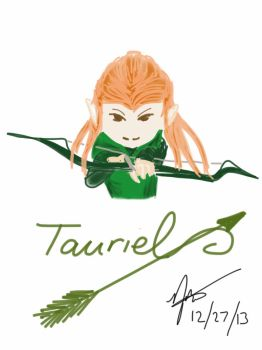Tauriel Doodle by scarletwilight