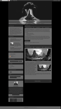 Blogspot template - In My Time of Dying by Halucynowaaa