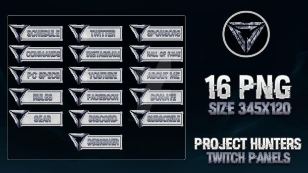 PROJECT Hunters - Twitch Panels by lol0verlay