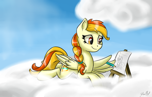 Drawing time (Little Flame) by GaelleDragons