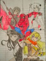Spiderman and RWBY Crossover by Sharkzero