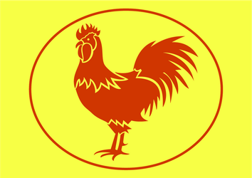 Rooster flag by jai2690