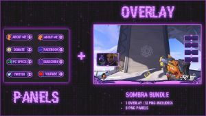 Sombra Bundle - Panels + Overlay (20 PNG) by lol0verlay