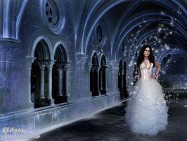 Ice Queen in her Frozen Castle by adunio