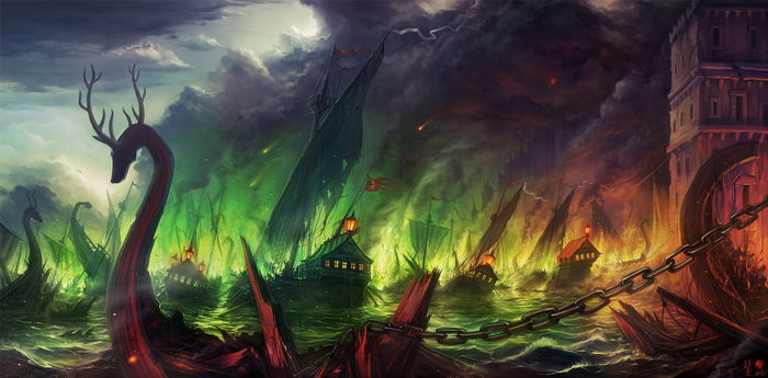 Battle of the Blackwater by LeKsoTiger