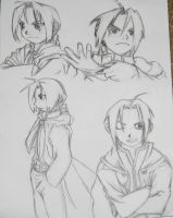 Edward Elric Sketches by iHeartPigs0618