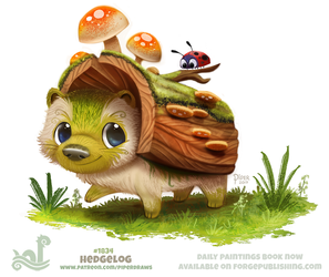 Daily Paint 1834# Hedgelog by Cryptid-Creations
