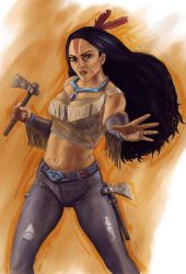 Disney Fighter - Pocahontas by joshwmc