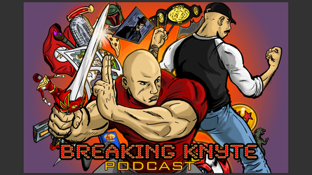 Breaking knyte podcast promo image by seaniredaleART