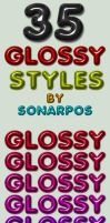 35 glossy styles by sonarpos