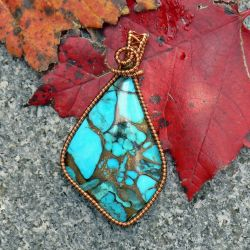 Brecciated Turquoise in Copper by magpie-poet
