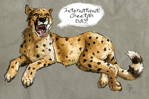 International Cheetah Day 2012 by painted-flamingo