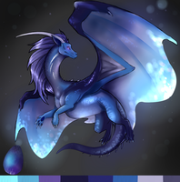 Mystery Dragon Adopt- Sapphire by Deviant-Soulmates