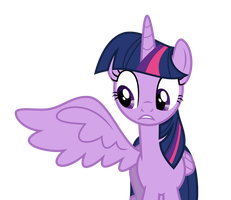 Twilight opens her right wing by DecPrincess