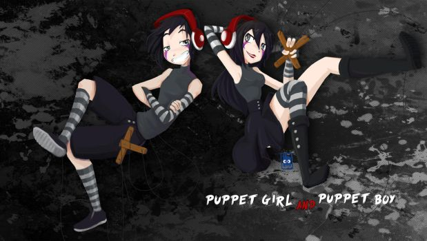 PUPPET BOY AND PUPPET GIRL ANIME VERSION FNAF by edd00chan