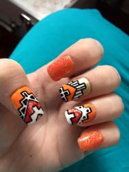 Lined Aztec Nails by megs2606