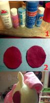 Tutorial - painting on fleece by mousenet