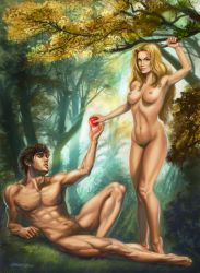 Adam and Eve by rebelakemi