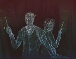 Quirrell and Harry by Arahneed