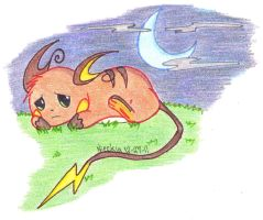 Sad Little Raichu by Nieckia