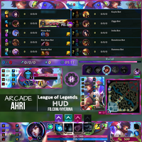 League of Legends - Arcade Ahri HUD by Hyerina