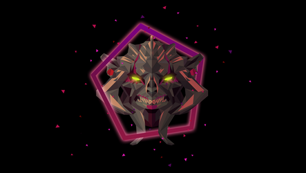 Huskar Dota 2 Low Poly Art by giftmones