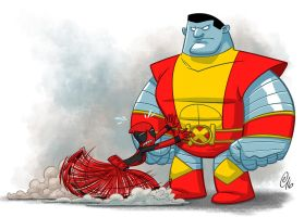 Deadpool Vs Colossus! by Erich0823