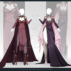 (CLOSED) Adoptable Outfit Auction 320-321 by JawitReen