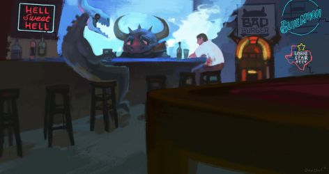 Hell's Bar by OrcaOwl