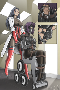Asylum Day 1 Motoko First Encounter by HKR06