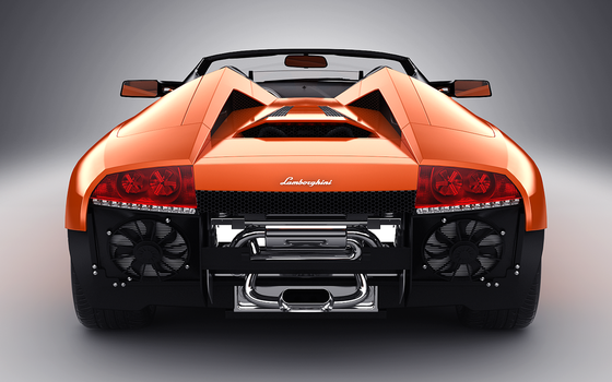 Lamborghini Murcielago Roadster Rear Undercarriage by Juvenile22