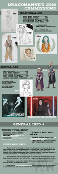 Updated Commission Prices for 2018 by Dragonanne