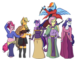 [C] Fantasy Six by SketchyChangeling