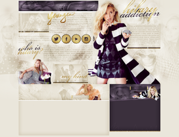 layout ft. Hilary Duff by Andie-Mikaelson