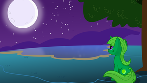 Lime Dream sits in the Moonlight by LimeDreaming