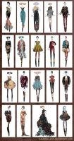 Sketches for Tattooazh collection by Sashiiko-Anti
