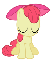 Sad Applebloom by IamthegreatLyra