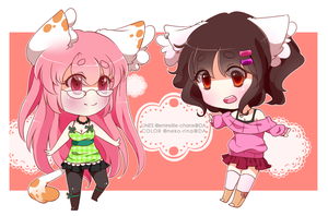 :CB: Mir and Rina by XMireille-chanX