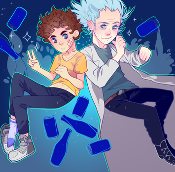 rick and morty by godlyDescentUFO