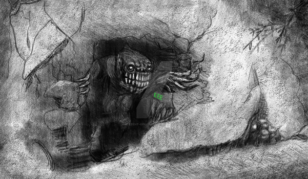 Ogre In A Cave by EEEnt-OFFICIAL
