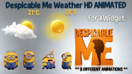 Despicable Me Weather HD ANIMATED for xwidget by Jimking