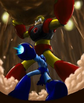Rockman VS Gutsman colored by gts