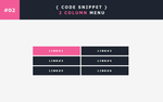 [02] Code Snippet - 2 Column Menu by Gasara