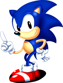 Sonic Posin' - Sonic: Project Survival Art by SuperLooneyDude