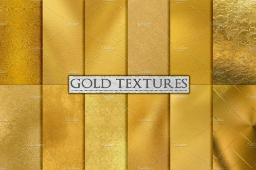 Gold Foil Textures, Gold Backgrounds by GraphicAssets