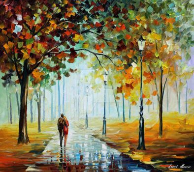 Fall Love by Leonid Afremov by Leonidafremov