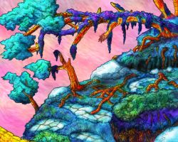 Colored Cliff Illustration by Anagram-Daine