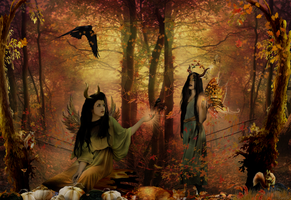 autumn fairy dryads by magicsart