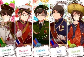 Hetalia Beautiful World Jackets ASEAN (Not all) by partee6554