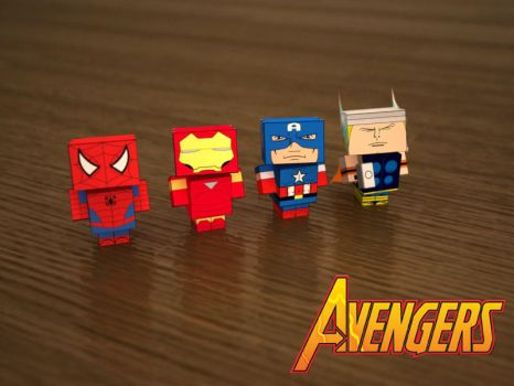 The Avengers Cubees by KamenRider